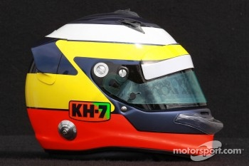 Pedro de la Rosa, HRT Formula One Team helmet 