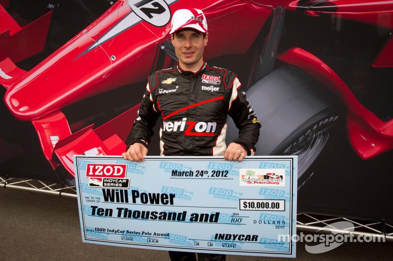 Pole winner Will Power, Verizon Team Penske Chevrolet