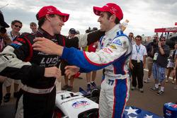 Race winner Tristan Vautier, Sam Schmidt Motorsports celebrates wiith Esteban Guerrieri, Sam Schmidt Motorsports