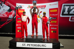 458CS podium: winner #007 Ferrari of Ontario 458CS: Robert Herjavec, second place #31 Ferrari of Ontario 458CS: Damon Ockey, third place #91 Ferrari of Ft Lauderdale 458CS: Guy Leclerc