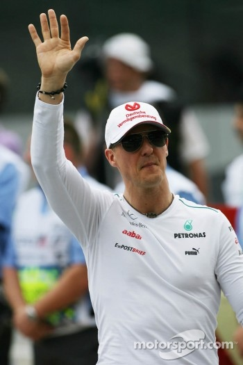 Michael Schumacher, Mercedes GP on the drivers parade