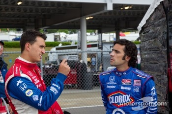 Graham Rahal and Dario Franchitti