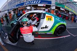 #20 Hitotsuyama Racing Audi R8 LMS: Michael Kim, Hideki Noda