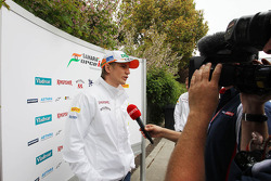 Nico Hulkenberg, Sahara Force India F1 with Ted Kravitz, Sky Sports Pitlane Reporter