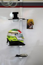 The helmet of Sergio Perez, Sauber F1 Team