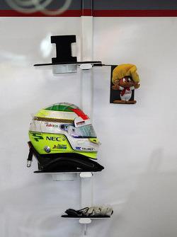 The helmet of Sergio Perez, Sauber F1 Team
