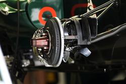 Caterham CT01 brake detail