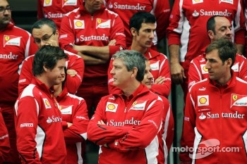Rob Smedley, Scuderia Ferrari Race Engineer, at a team photograph