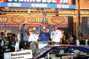 Victory lane: race winner Ricky Stenhouse Jr., Roush Fenway Ford celebrates