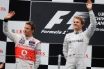 Podium: race winner Nico Rosberg, Mercedes AMG F1, second place Jenson Button, McLaren