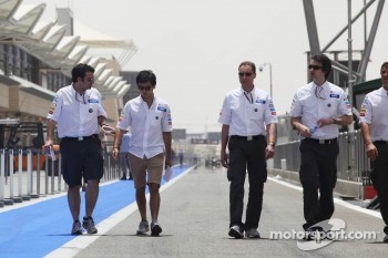 Sergio Perez, Sauber walks the circuit