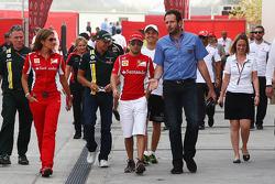 Felipe Massa, Ferrari with Matteo Bonciani, FIA Media Delegate