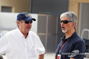 Nick Mason, with Damon Hill, Sky Sports Presenter