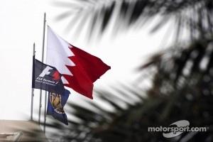 F1, FIA, and Bahrain flags