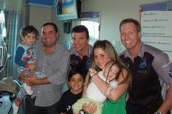 Al Carter and Hugh Plumb visit Miami Children's hospital