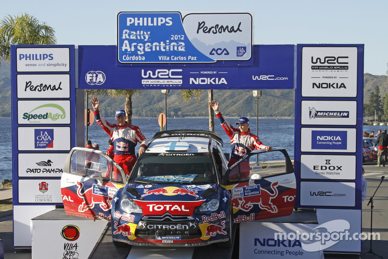 Second place Mikko Hirvonen and Jarmo Lehtinen, Citroën DS3 WRC, Citroën Total World Rally Team