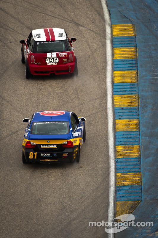 #195 RSR Motorsports Mini Cooper S: Chris Puskar, Mark Congleton, #81 BimmerWorld Racing BMW 328i: David Levine, Gregory Liefooghe