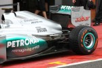 Nico Rosberg, Mercedes AMG Petronas rear suspension and rear wing