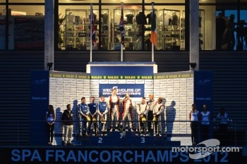 LMP2 podium: winners Simon Dolan, Sam Hancock, second place John Martin, Robbie Kerr, Tor Graves, third place Warren Hughes, Jody Firth, Brendon Hartley