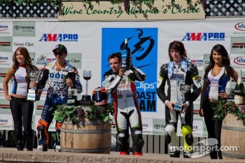 SportBIke Race #2 Podium: First Place Jason DiSalvo, Second Place Tommy Hayden, Third Place Joey Pascarella