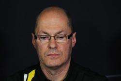 Mark Smith, Caterham F1 Team Technical Director in the FIA Press Conference
