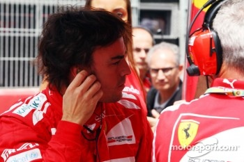 Fernando Alonso, Scuderia Ferrari on the grid