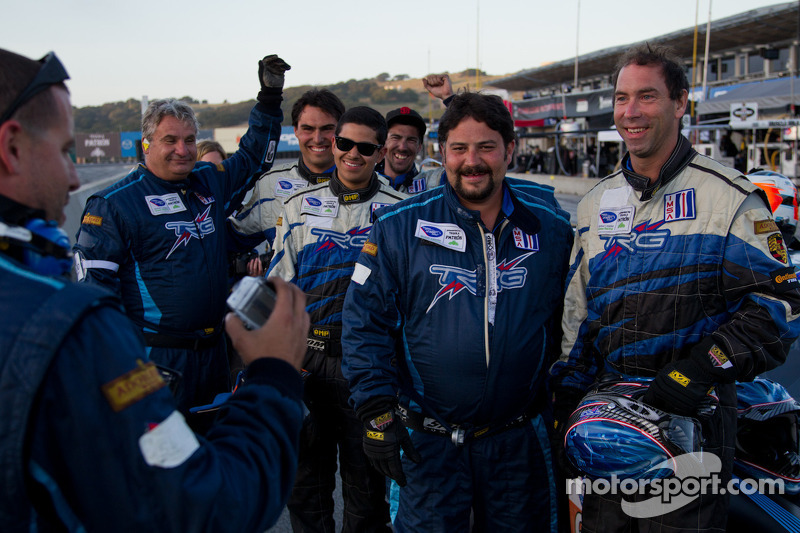 TRG Crew celebrating after winning GTC class