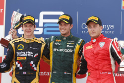 Podium: race winner Giedo van der Garde, second place James Calado, third place Stefano Coletti
