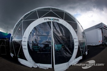 Vita4one Racing Team paddock area