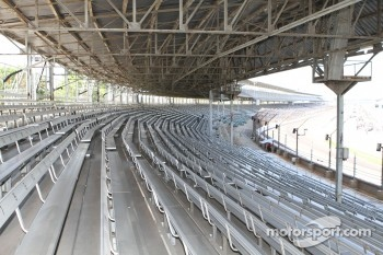 Corner one grandstands