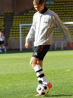 Vitaly Petrov, Caterham at the charity football match