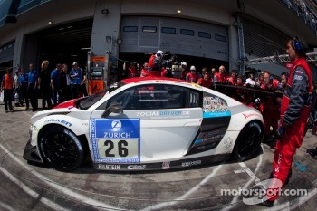 Pit stop for #26 Mamerow Racing Audi R8 LMS Ultra: Chris Mamerow, Christian Abt, Michael Ammermüller, Armin Hahne