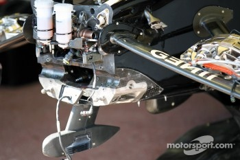 The steering rack of Kimi Raikkonen, Lotus F1