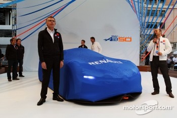 Carlos Tavares, Renault COO  at the unveiling of the Renault Alpine A110-50 Concept car on the Red Bull Energy Station