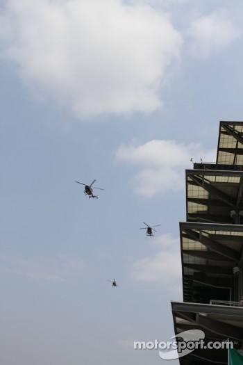 Pre-race flyover