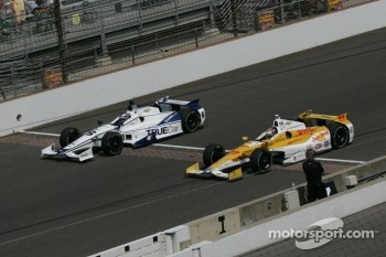 Katherine Legge, Dragon Racing Chevrolet and Ryan Hunter-Reay, Andretti Autosport Chevrolet