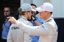 Nico Rosberg, Mercedes AMG Petronas and Michael Schumacher, Mercedes AMG Petronas