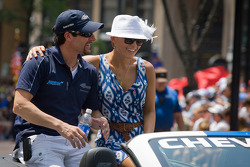 Indy 500 festival parade: Alex Tagliani, Team Barracuda - BHA Honda