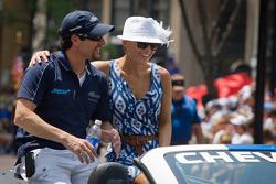 Indy 500 festival parade: Alex Tagliani, Team Barracuda - BHA Honda