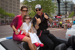 Indy 500 festival parade: Helio Castroneves, Team Penske Chevrolet