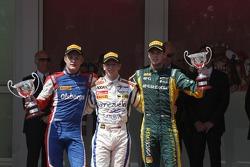 Podium: race winner Johnny Cecotto, second place Marcus Ericsson, third place Giedo van der Garde