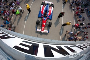 Car of Mike Conway, A.J. Foyt Racing Honda