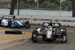Dario Franchitti, Target Chip Ganassi Honda, Simon Pagenaud, Schmidt-Hamilton Motorsports