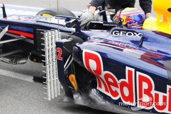 Mark Webber, Red Bull Racing with sensor equipment
