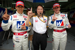 GT500 pole winners Takashi Kogure and Carlo Van Dam