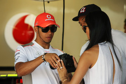 Lewis Hamilton, McLaren Mercedes with girlfriend Nicole Scherzinger, Singer
