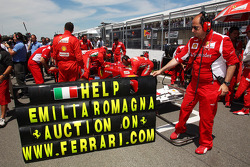 Ferrari support earthquake victims on the grid