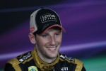 Romain Grosjean, Lotus F1 Team in the FIA Press Conference