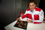 Autograph session: birthday cake for Loic Duval