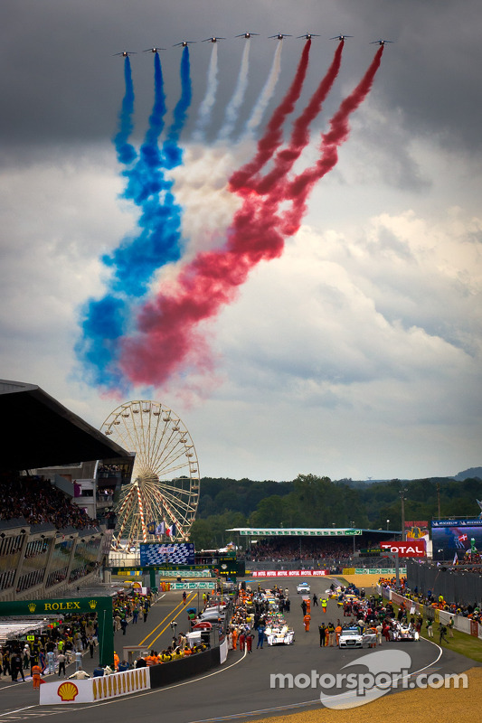 Flyover by Patrouille de France